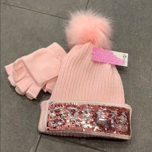 Girls hat and gloves set